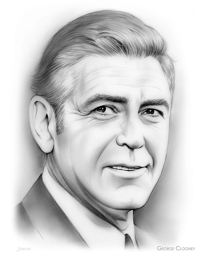 George Clooney Drawing - George Clooney by Greg Joens