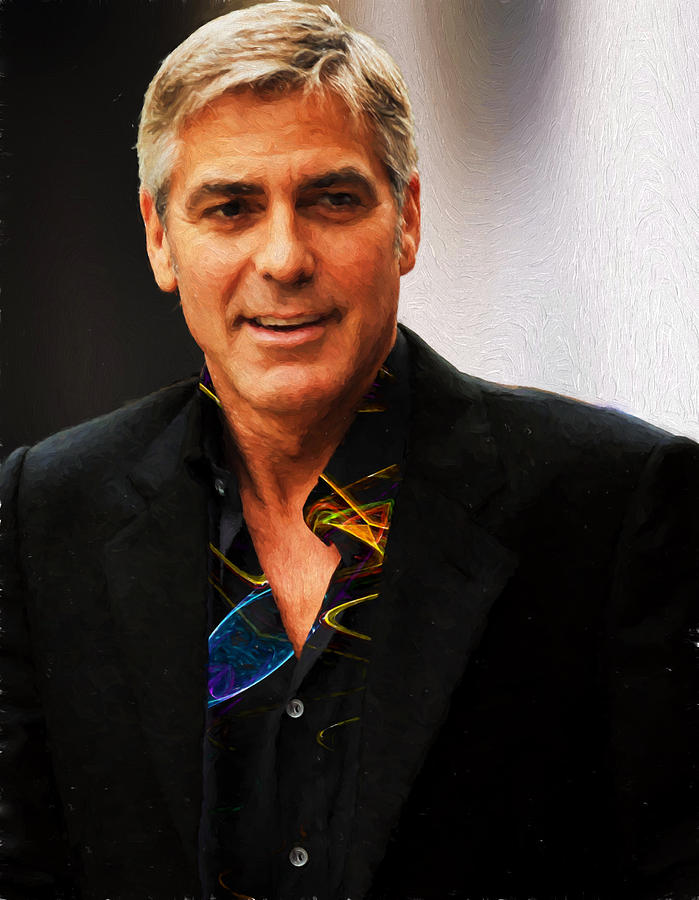 George Clooney Photograph - George Clooney Painting by Ericamaxine Price