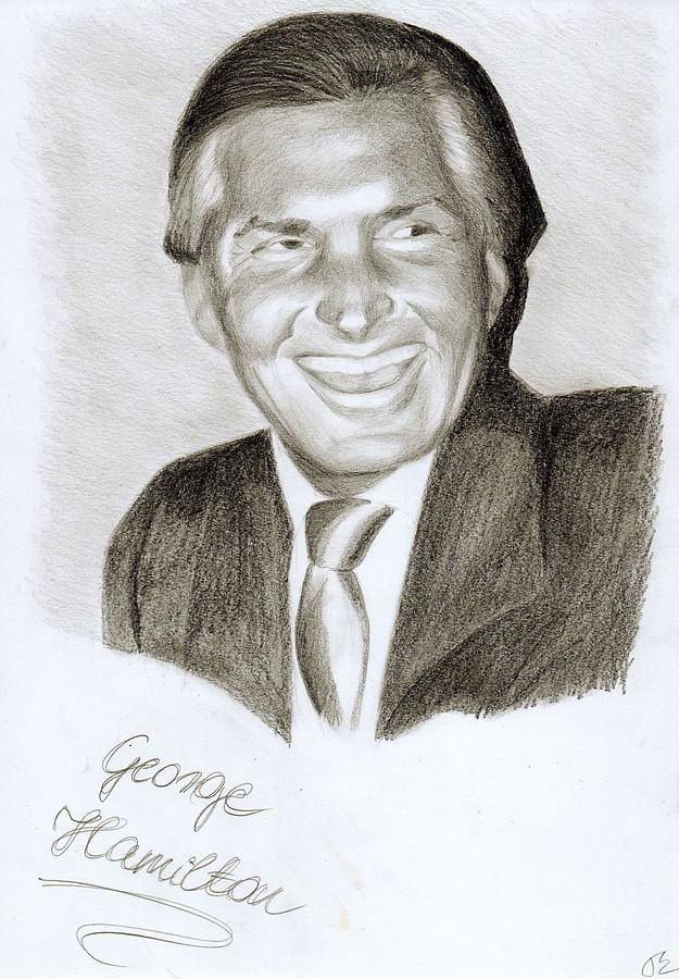 George Hamilton Drawing - George Hamilton by Eniko Tanyi