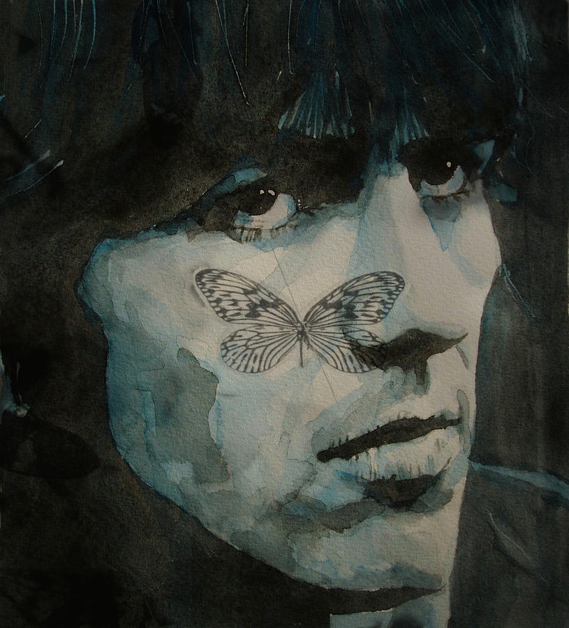 The Beatles Painting - George Harrison @ Butterfly by Paul Lovering