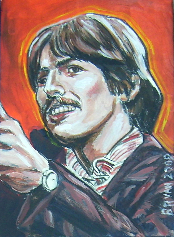 George Harrison Painting - George Harrison by Bryan Bustard