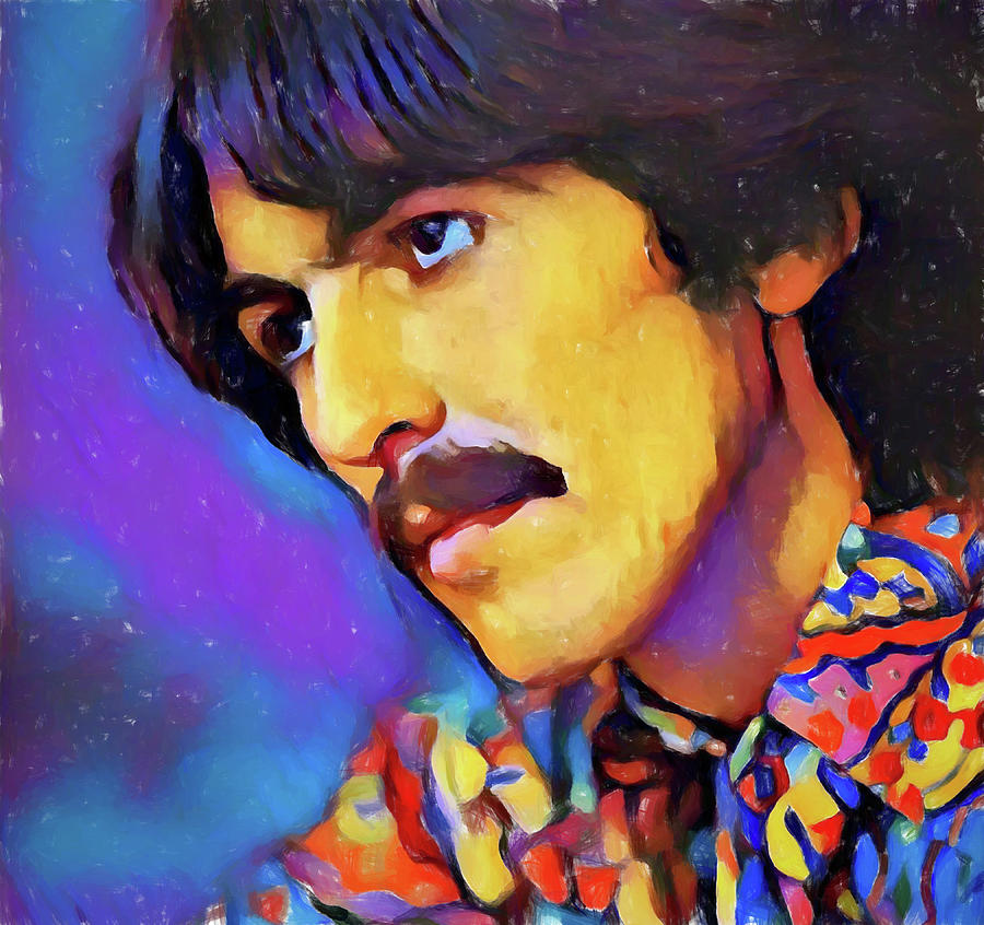 George Harrison Painting - George Harrison by Dan Sproul