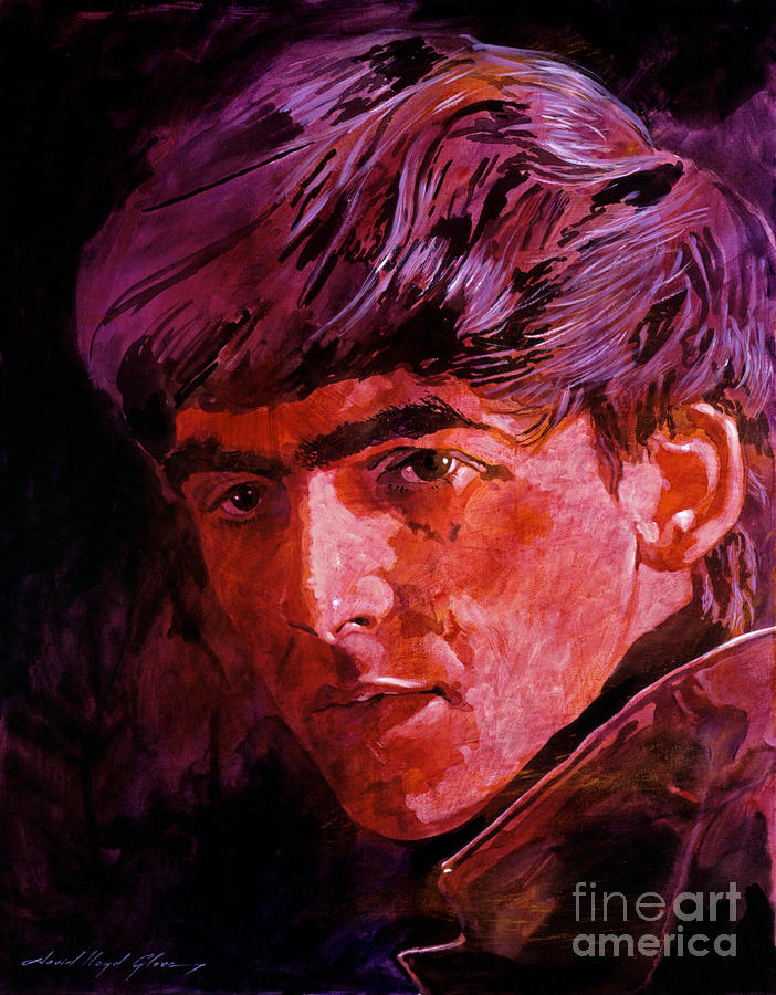George Harrison Painting - George Harrison by David Lloyd Glover