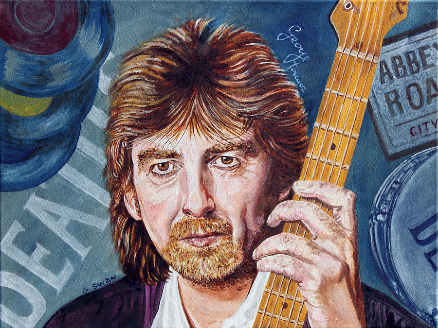 The Beatles Painting - George Harrison by Graham Swan