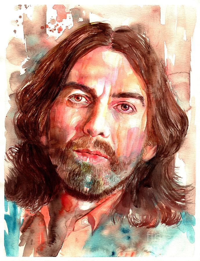 George Painting - George Harrison portrait by Suzann Sines