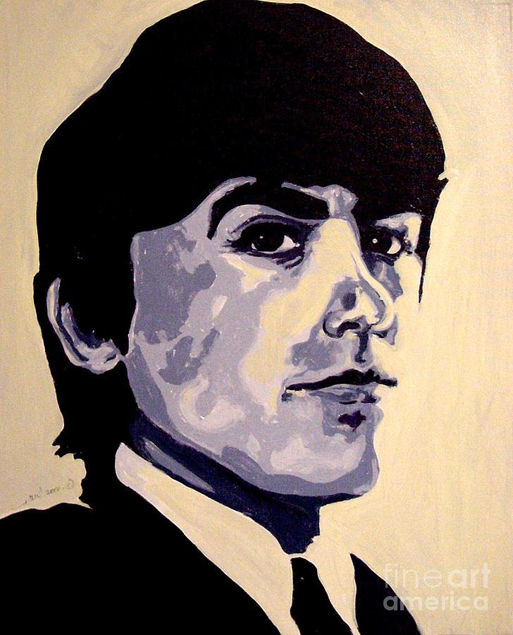 George Harrison Psychedelic Beatles 60s Painting By Margaret Juul