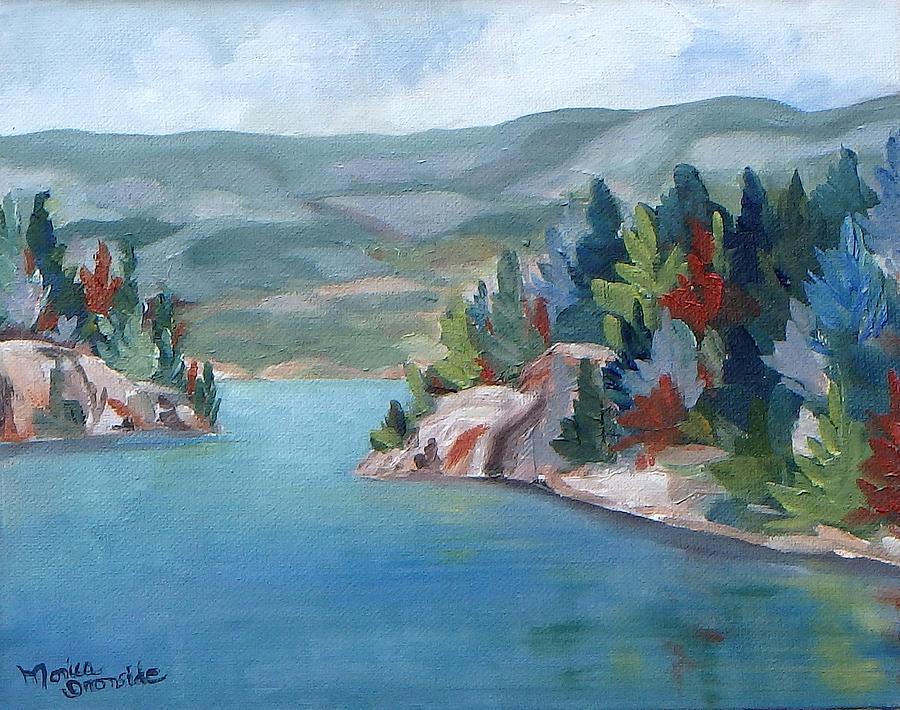 Landscape Painting - George Lake, Killarney  by Monica Ironside