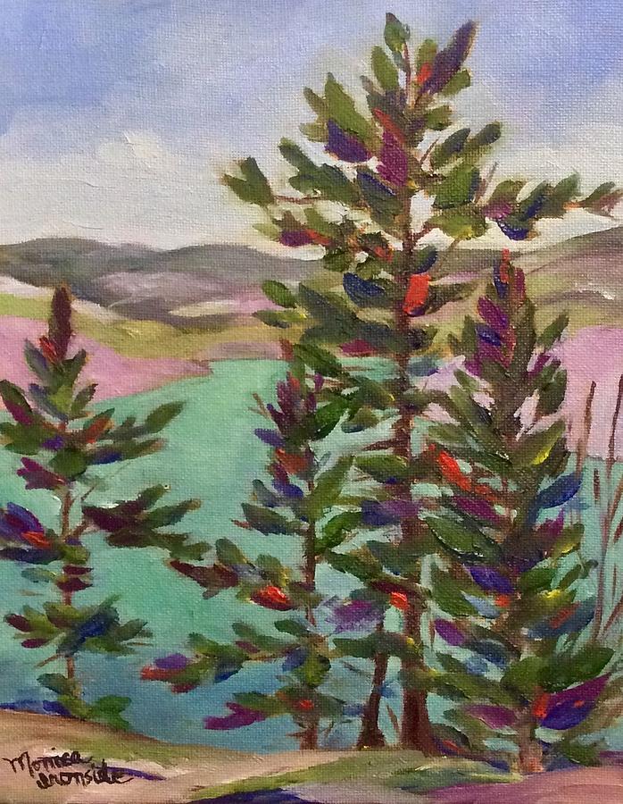 George Lake, Killarney Ontario Painting by Monica Ironside