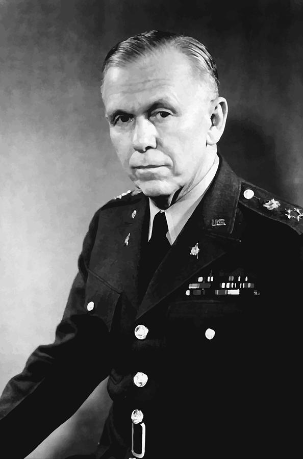 George Marshall Painting - George Marshall by War Is Hell Store