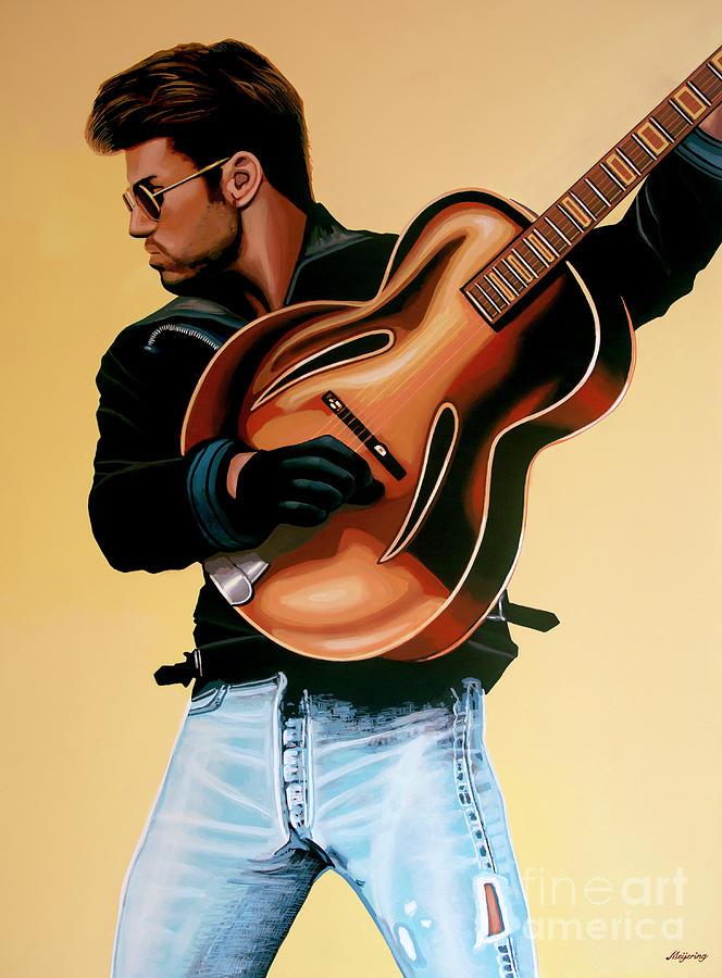 George Michael Painting - George Michael Painting by Paul Meijering