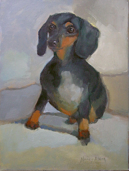 Dachshund Painting - George by Nancy Blum