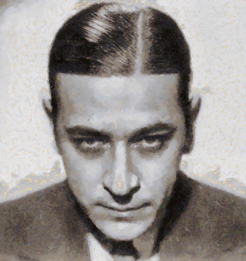 George Painting - George Raft Hollywood Actor by John Springfield