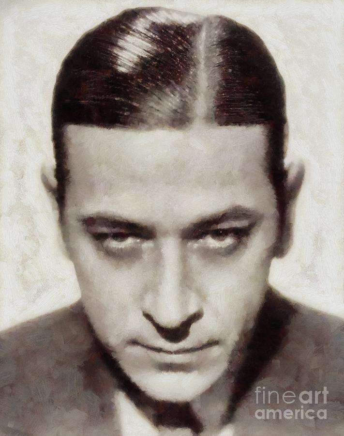 Hollywood Painting - George Raft, Vintage Actor by Sarah Kirk