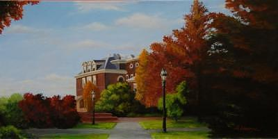 George School Painting by Allison Lucerne