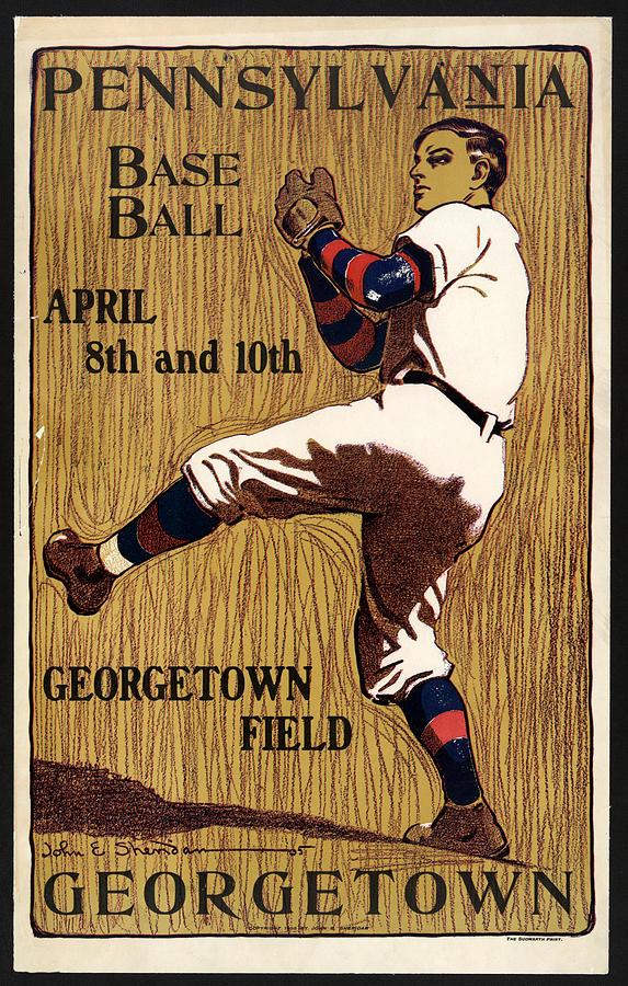 George Town - Baseball - Pennsylvania - Vintage Advertising Poster Mixed Media