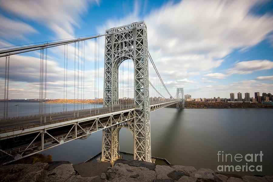 George Washington Bridge Photograph - George Washington Bridge by Greg Gard
