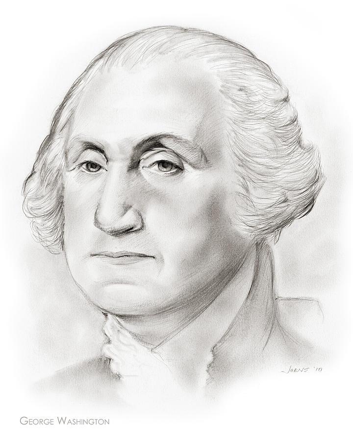 George Washington Drawing - George Washington by Greg Joens