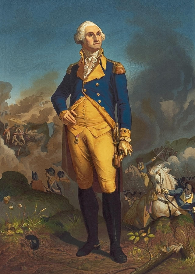 George Washington Military Portrait Painting By War Is