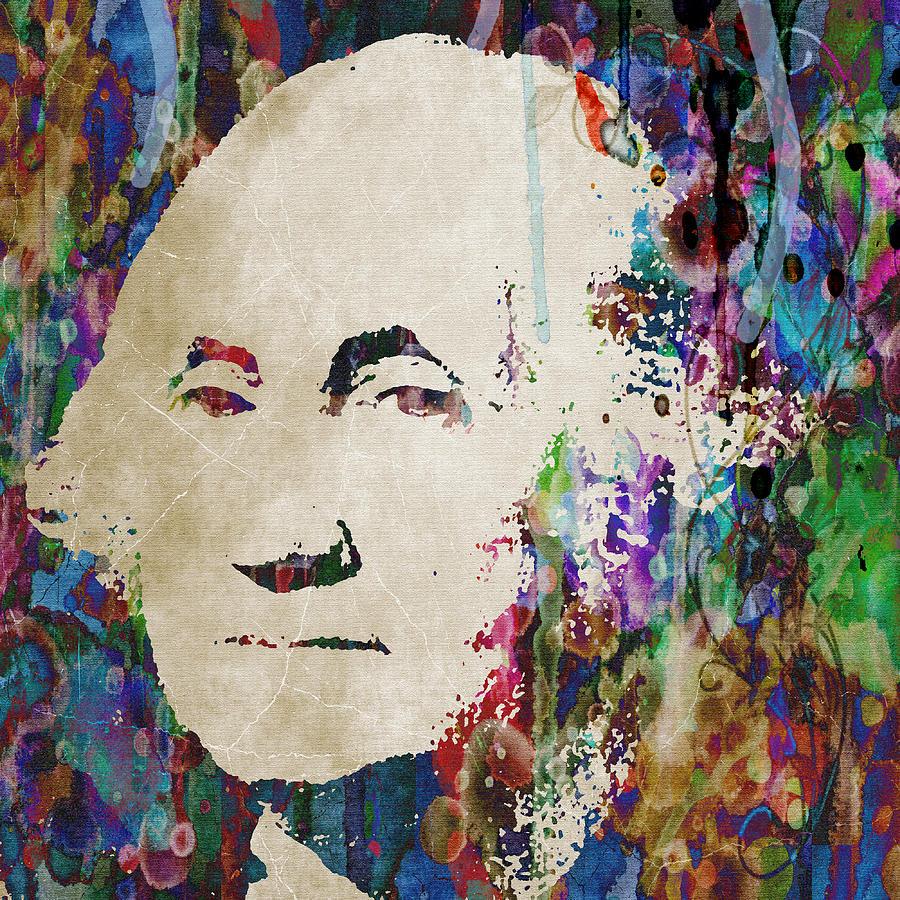 George Washington President Art Painting by Robert R Splashy Art ...