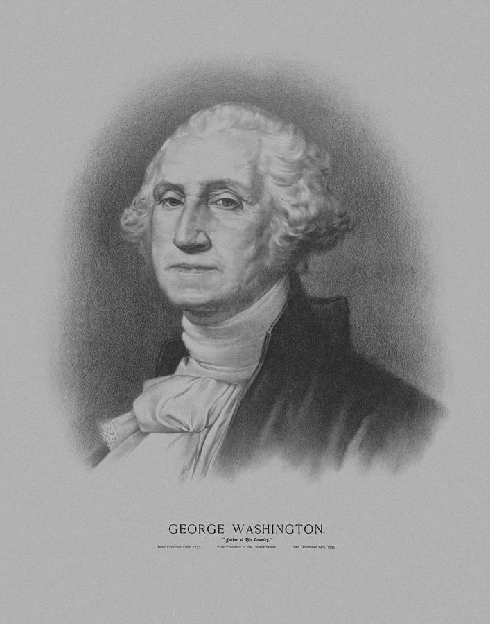 George Washington Mixed Media - George Washington by War Is Hell Store