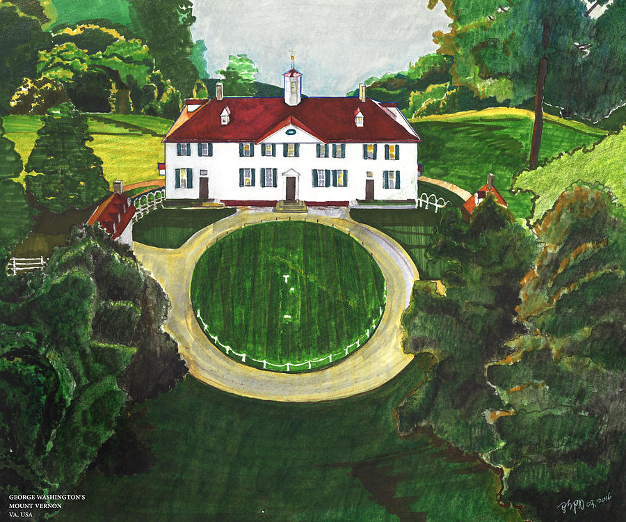 George Washington's Mount Vernon by Yang Luo-Branch