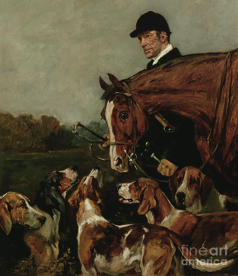 Hunt Painting - George Wateridge, Huntsman To The New Forest Buckhounds by John Emms