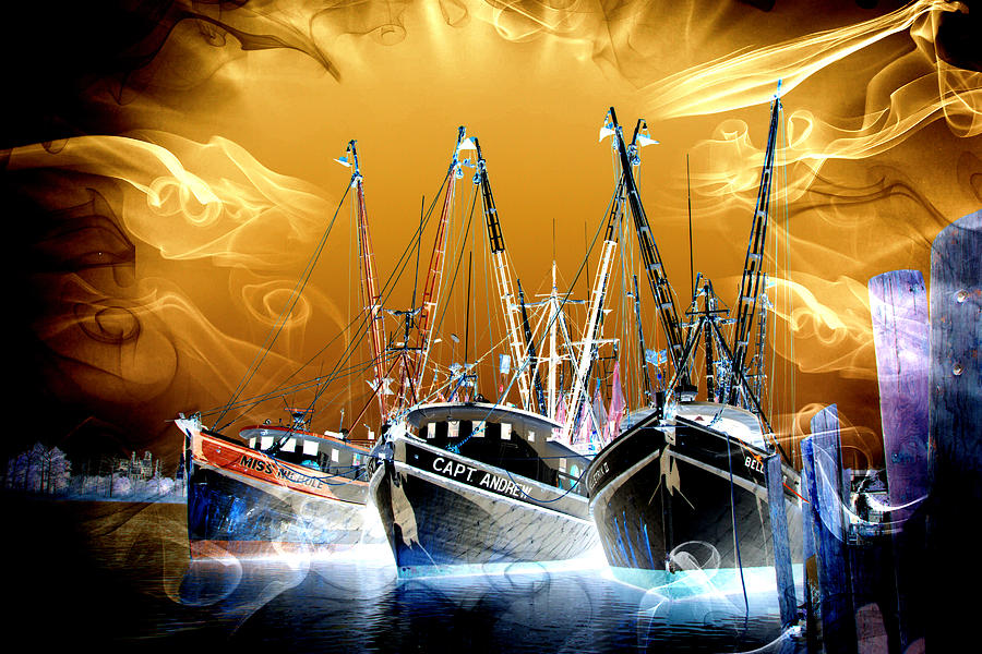 Georgetown Fantasy Shrimpers by Bill Barber