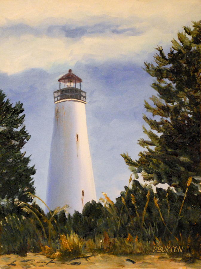Georgetown Lighthouse Painting - Georgetown Lighthouse Sc by Phil Burton