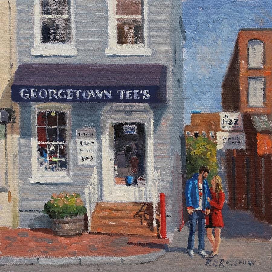 Old Building Painting - Georgetown Tees by Roelof Rossouw