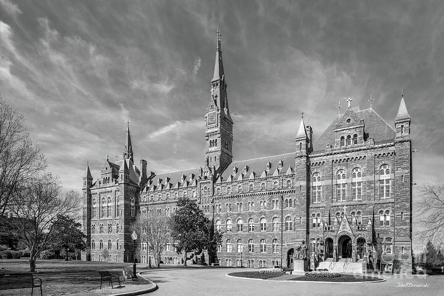 Catholic Photograph - Georgetown University Healy Hall by University Icons