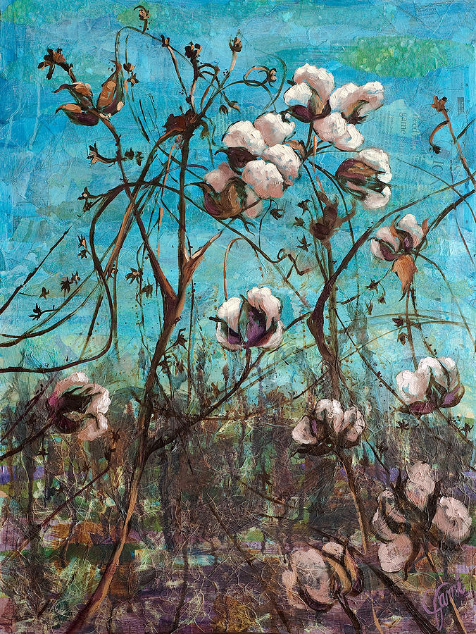 Oil Painting Painting - Georgia Cotton by Jami Childers
