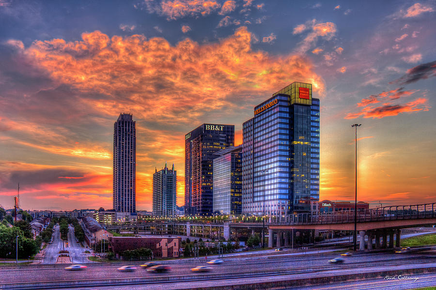 Banking Photograph - Georgia On My Mind Majestic Atlantic Station Midtown Atlanta Sunset Art by Reid Callaway