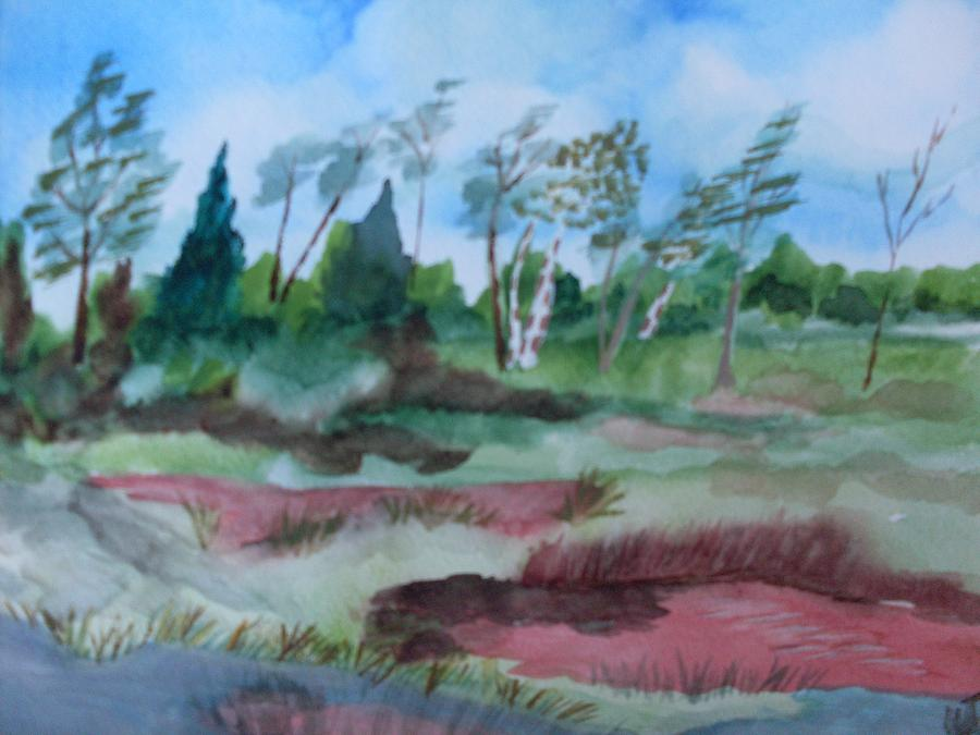 Georgia Pond Painting by Warren Thompson