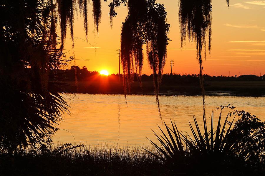 Landscape Photograph - Georgia Sunset by Jacquie Law