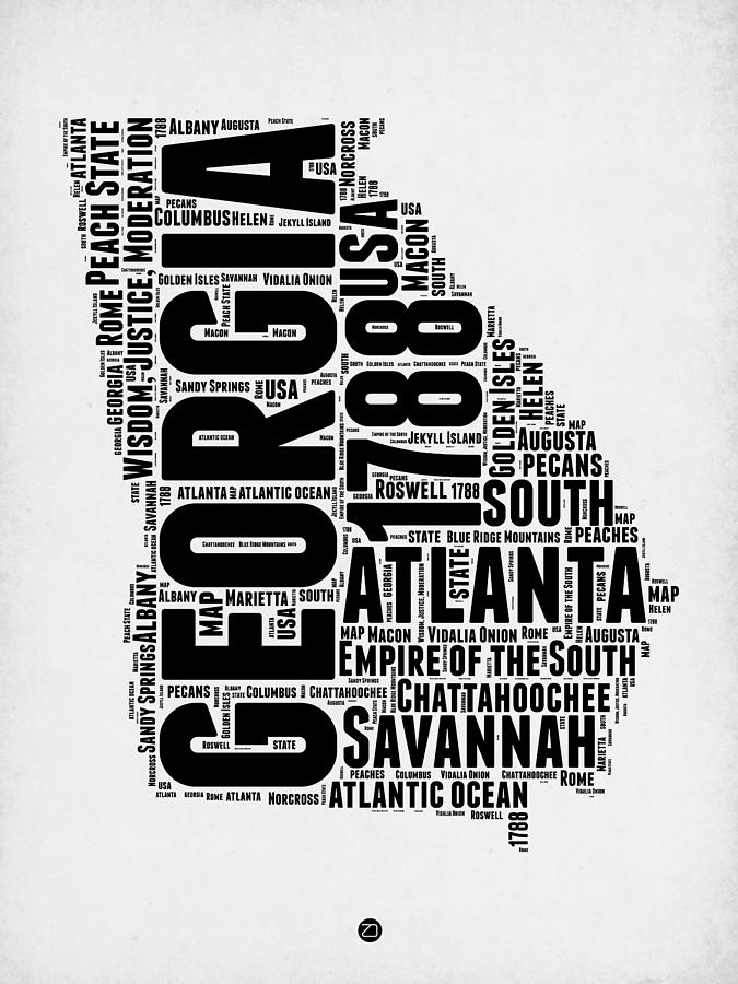 Georgia Word Cloud Map 2