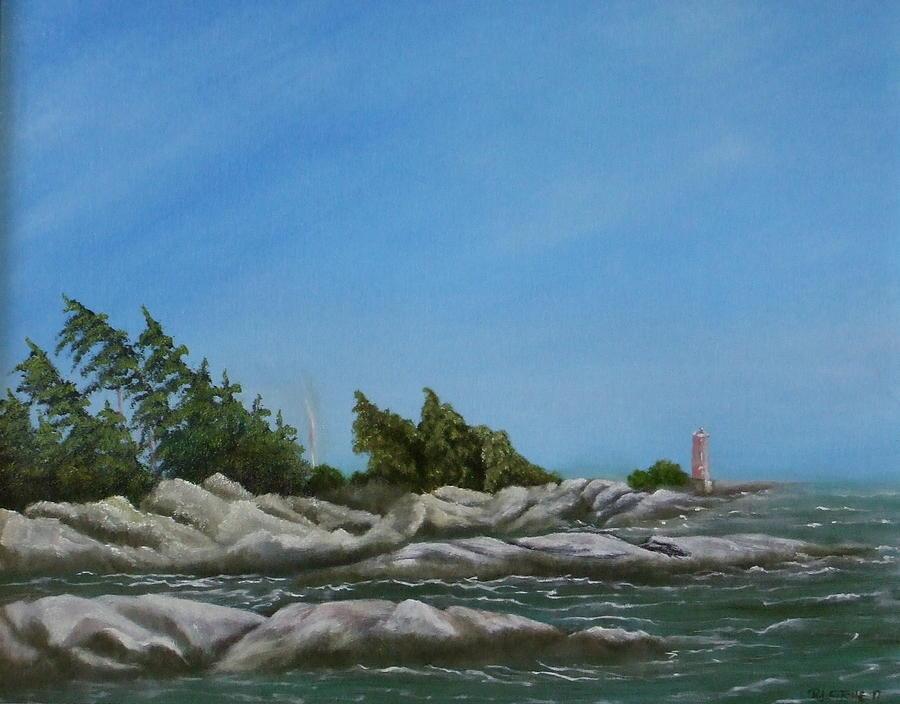 Landscape Painting - Georgian Bay by Rebecca  Fitchett