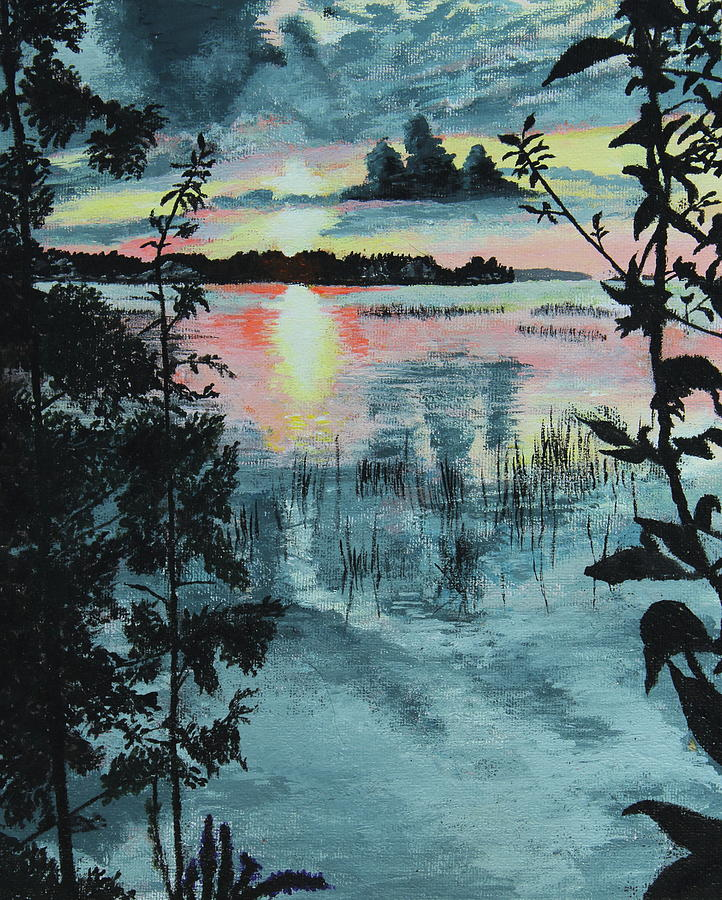 Ontario Painting - Georgian Bay Sunset by Thom Barker
