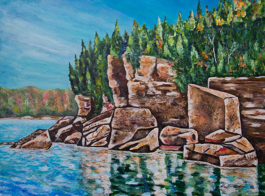 Georgian Bay Painting - Georgian Beauty by Heather Kertzer