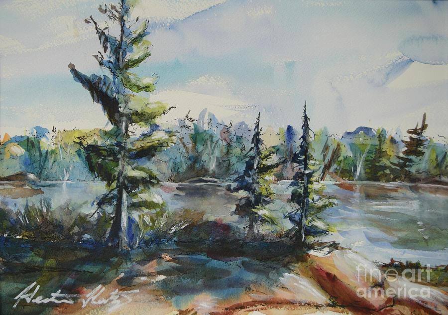 Georgian Bay Painting - Georgian View by Heather Kertzer