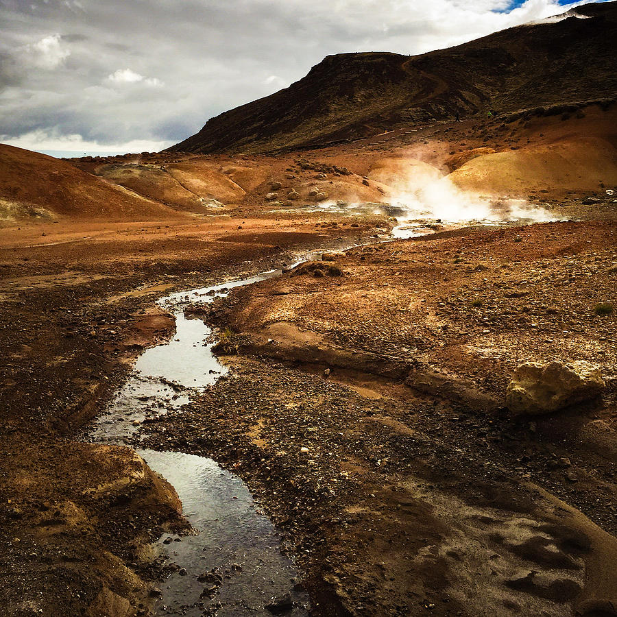 Iceland Photograph - Geothermal Area Krysuvik In Iceland by Matthias Hauser