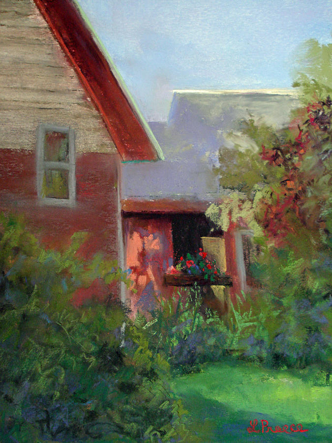 Geraniums Pastel - Geraniums by Linda Preece