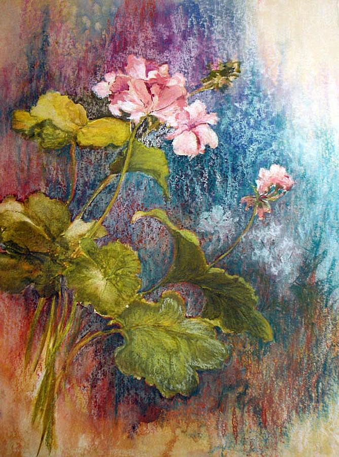 Geraniums Mixed Media by Lois Mountz