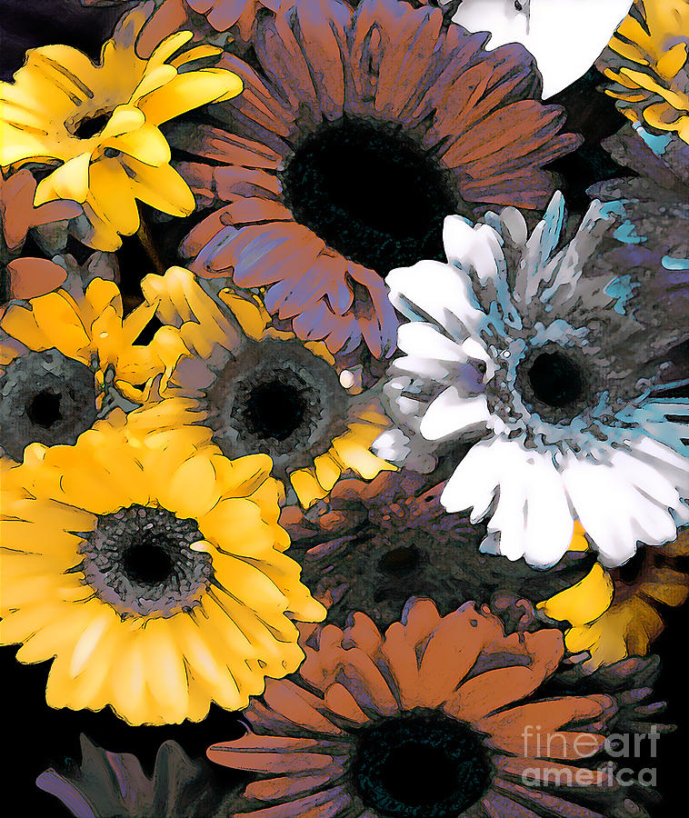 Daisies Photograph - Gerbera Cluster by Linda  Parker