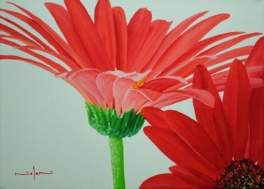 Oil Painting - Gerbera Daisies by Nolan Clark
