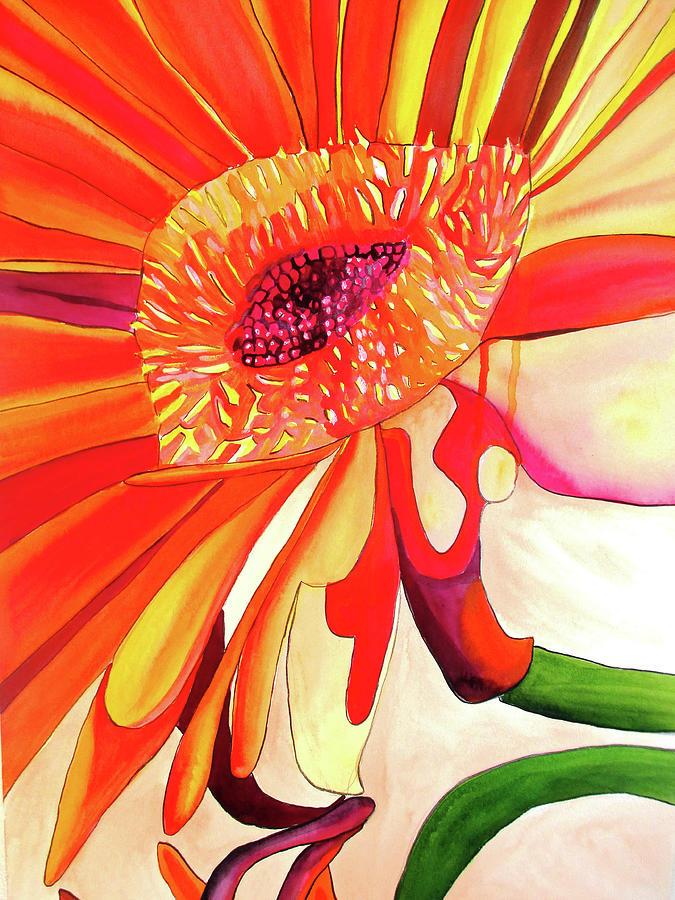 Gerbera Painting - Gerbera by Sacha Grossel