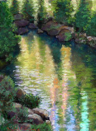 Landscape Painting - Gerle Creek by Brenda Williams