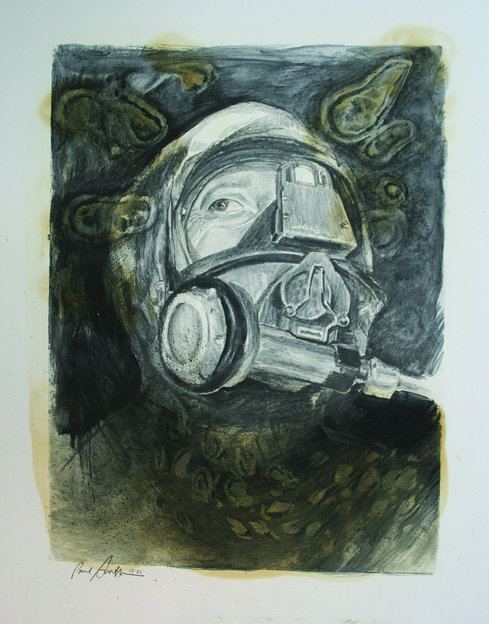 Graphite Drawing - Germ Couture by Paul Autodore
