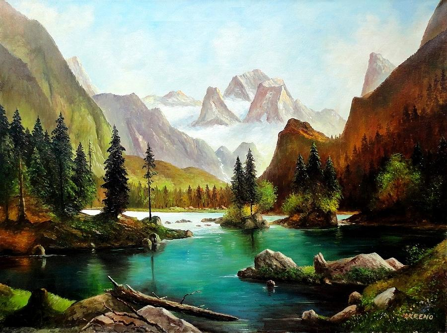 German Alps Painting   German Alps By John Lyes