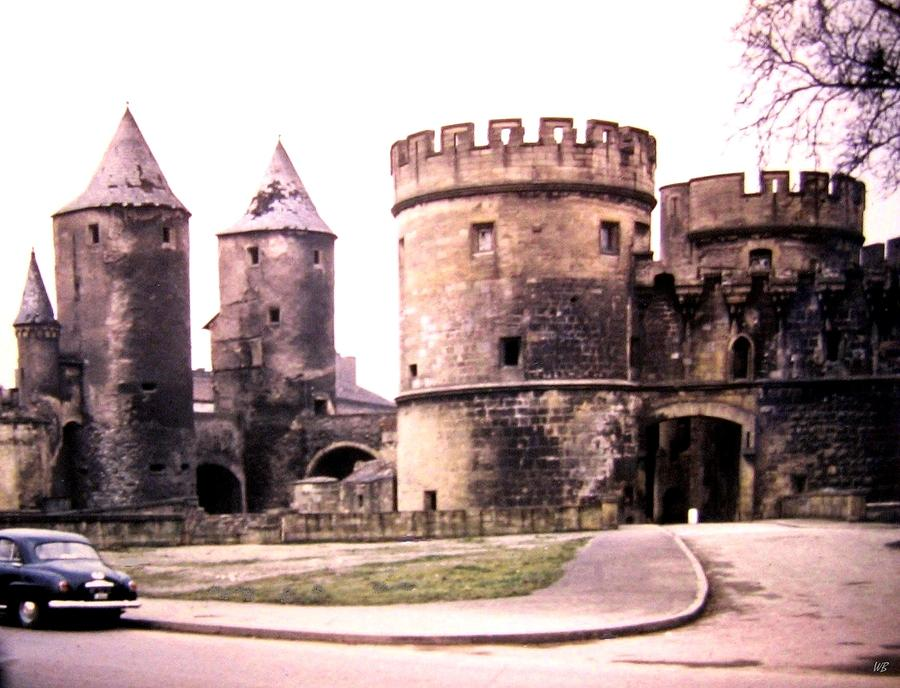 1955 Photograph - German Gate In Metz 1955 by Will Borden