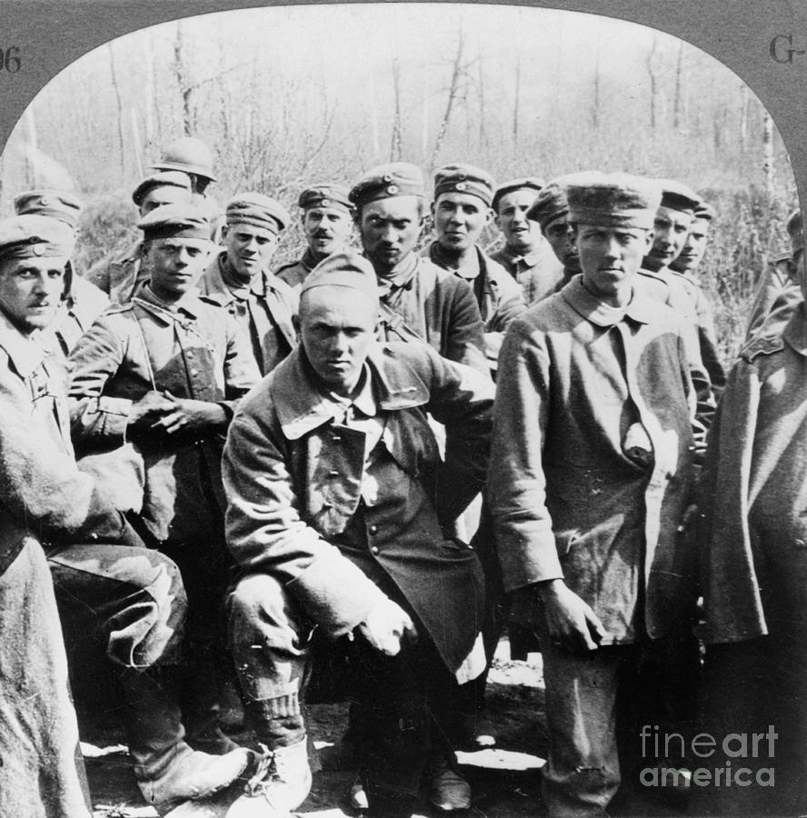 1918 Photograph - German Prisoners Of War by Granger